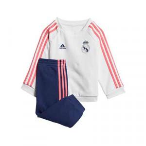 Chándal bebé adidas Real Madrid 3S Jogger - Chándal para bebé de 3 a 48 meses adidas del Real Madrid 2020 2021 - blanco y azul - frontal
