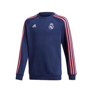 Sudadera adidas Real Madrid niño - Sudadera infantil de algodón del Real Madrid 2020 2021 - azul marino - miniatura