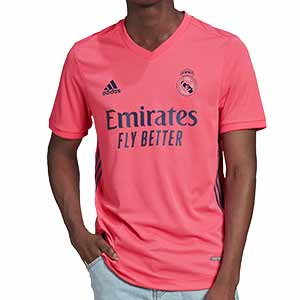 Camiseta adidas 2a Real Madrid 2020 2021 authentic - Camiseta adidas authentic segunda equipación Real Madrid 2020 2021 - rosa - frontal