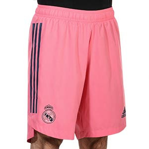 Short adidas 2a Real Madrid authentic 2020 2021 - Pantalón corto authentic segunda equipación Real Madrid 2020 2021 - rosa - frontal