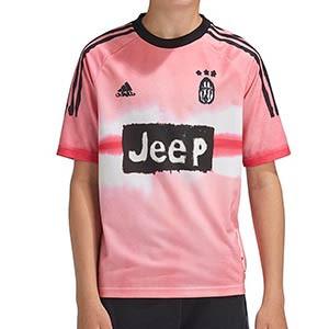 Camiseta adidas 4a Juventus 2020 2021 niño Human Race - Camiseta infantil cuarta equipación adidas Juventus 2020 2021 colección Human Race - rosa - frontal