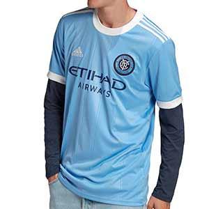 Camiseta adidas New York City CF 2021 - Camiseta primera equipación adidas del New York City Football Club 2021 - azul celeste - frontal
