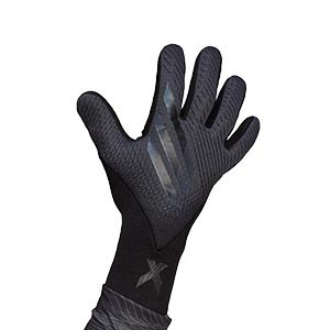 adidas X Pro - Guantes de portero profesionales adidas corte negativo - gris oscuro y negro - frontal