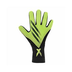 adidas X League - Guantes de portero adidas corte negativo - amarillos flúor y negros - frontal