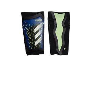 adidas Predator Pro - Espinilleras de fútbol adidas con mallas incorporadas - azules - frontal
