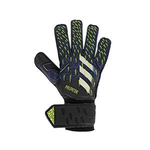 adidas Predator Match - Guantes de portero adidas corte positivo - negros y azules - frontal