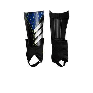 adidas Predator Match - Espinilleras de fútbol adidas con tobillera protectora - azules y negras - frontal