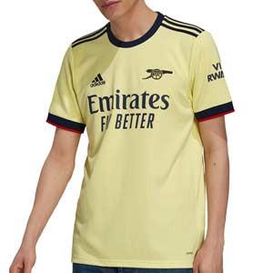Camiseta adidas 2a Arsenal 2021 2022 - Camiseta segunda equipación adidas del Arsenal FC 2021 2022 - amarilla pastel - frontal