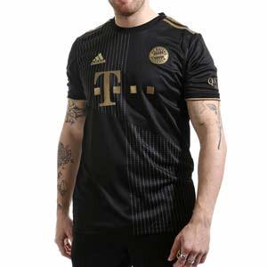 Camiseta adidas 2a Bayern 2021 2022 - Camiseta segunda equipación adidas del Bayern de Múnich 2021 2022 - negra - frontal