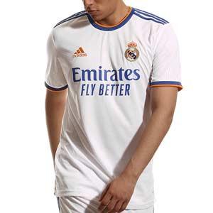 Camiseta adidas Real Madrid 2021 2022 - Camiseta primera equipación adidas Real Madrid CF 2021 2022 - blanca - frontal