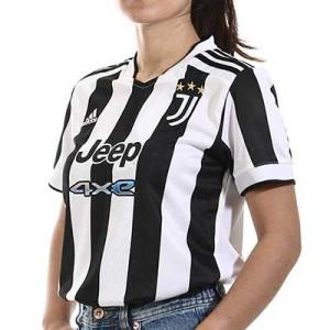 Camiseta adidas Juventus mujer 2021 2022 - Camiseta de mujer adidas primera equipación Juventus 2021 2022 - blanca y negra - miniatura frontal