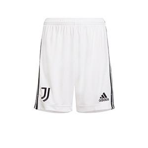 Short adidas Juventus niño 2021 2022 - Pantalón corto infantil adidas primera equipación Juventus 2021 2022 - blanco - frontal