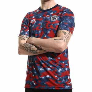 Camiseta adidas Bayern pre-match - Camiseta de calentamiento pre-partido adidas del Bayern de Múnich - roja y azul - frontal