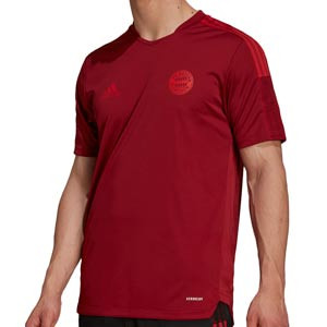 Camiseta adidas Bayern entrenamiento - Camiseta manga corta entrenamiento para entrenadores adidas Bayern de Múnich - roja - frontal