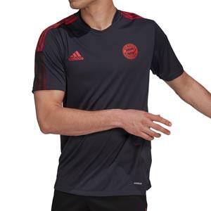 Camiseta adidas Bayern entrenamiento - Camiseta manga corta entrenamiento adidas Bayern de Múnich - negra - frontal