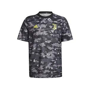 Camiseta adidas Juventus pre-match niño 2021 2022 - Camiseta infantil de calentamiento adidas Juventus 2021 2022 - gris oscura - frontal