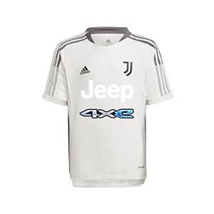 Camiseta adidas Juventus niño entrenamiento - Camiseta infantil entrenamiento adidas Juventus - blanca - frontal