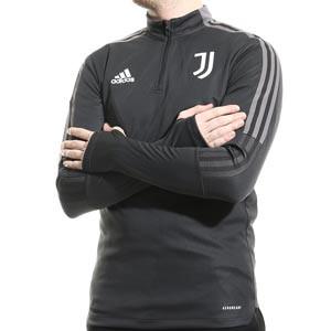 Sudadera adidas Juventus entrenamiento - Sudadera de entrenamiento para entrenadores adidas de la Juventus - gris oscura - frontal