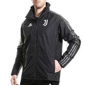Chubasquero adidas Juventus entrenamiento - Chaqueta impermeable de entrenamiento adidas de la Juventus - gris - frontal