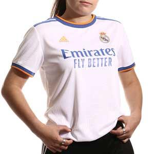 Camiseta adidas Real Madrid mujer 2021 2022 - Camiseta primera equipación de mujer adidas Real Madrid CF 2021 2022 - blanca - frontal