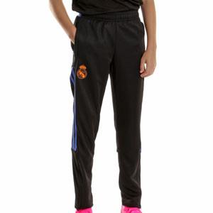 Pantalón adidas Real Madrid entrenamiento niño - Pantalón largo infantil de entrenamiento adidas del Real Madrid CF - negro - frontal