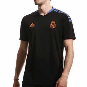 Camiseta adidas Real Madrid entrenamiento - Camiseta manga corta entrenamiento adidas Real Madrid CF - negra - miniatura frontal