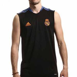 Camiseta adidas Real Madrid entrenamiento - Camiseta de tirantes entrenamiento adidas Real Madrid CF - negra - miniatura frontal
