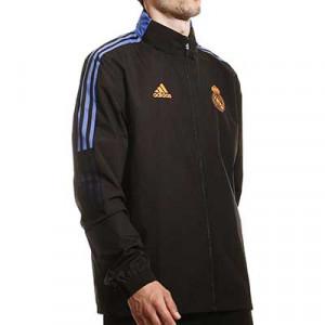 Cortavientos adidas Real Madrid All Weather - Chaqueta cortavientos con capucha adidas del Real Madrid CF - negra - miniatura frontal