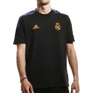 Camiseta algodón adidas Real Madrid entrenamiento - Camiseta manga corta de algodón entrenamiento adidas Real Madrid CF - negra - miniatura frontal