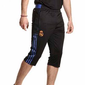 Pantalón 3/4 adidas Real Madrid entrenamiento - Pantalón pirata entrenamiento adidas Real Madrid CF - negro - miniatura frontal