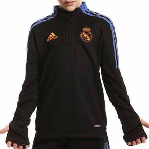 Sudadera adidas Real Madrid niño entrenamiento - Sudadera de entrenamiento infantil adidas del Real Madrid CF - negra - miniatura frontal