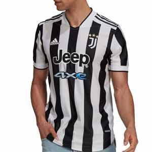 Camiseta adidas Juventus 2021 2022 - Camiseta adidas primera equipación Juventus 2021 2022 - blanca y negra - frontal