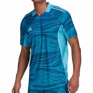 Camiseta adidas Condivo GK 21 - Camiseta de portero de manga corta adidas - azul - frontal