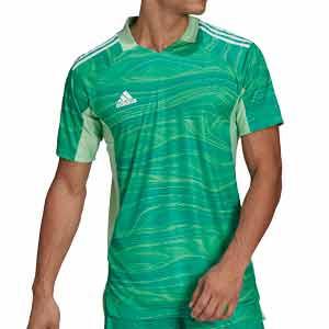 Camiseta adidas Condivo GK 21 - Camiseta de portero de manga corta adidas - verde - frontal