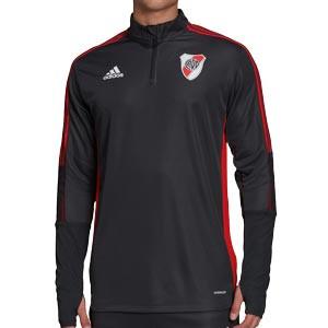 Sudadera adidas River Plate entrenamiento - Sudadera de entrenamiento adidas del Club Atlético River Plate - gris oscuro - frontal
