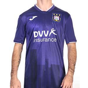 Camiseta Joma Anderlecht 2020 2021 - Camiseta primera equipación Joma RSC Anderlecht 2020 2021 - morada - frontal