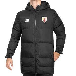 Anorak New Balance Athletic Club - Chaqueta acolchada de invierno New Balance del Athlteic Club de Bilbao - negra - frontal