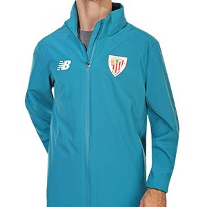 Chubasquero New Balance Athletic Club 2020 2021 - Chubasquero de entrenamiento New Balance del Athletic Club 2020 2021 - azul turquesa - frontal