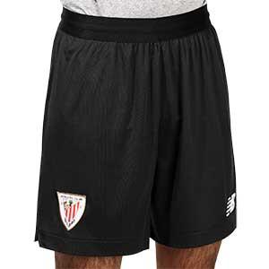 Short New Balance Athletic Club 2020 2021 - Pantalón corto primera equipación New Balance del Athletic Club de Bilbao 2020 2021 - negro - frontal