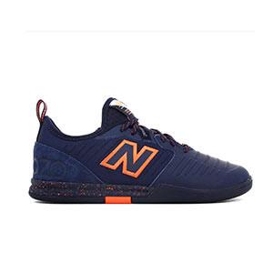 New Balance Audazo v5 Pro IN - Zapatillas de fútbol sala New Balance suela lisa IN - azul marino - pie derecho