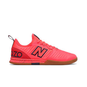 New Balance Audazo v5 Pro IN - Zapatillas de fútbol sala de piel New Balance suela lisa IN - rojas - pie derecho