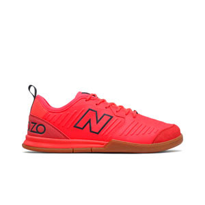 New Balance Audazo v5 Command IN - Zapatillas de fútbol sala New Balance suela lisa IN - rojas - pie derecho