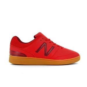 New Balance Audazo v4 Control IN - Zapatillas de fútbol sala New Balance suela lisa IN - rojas - derecho