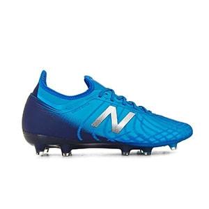 New Balance Tekela 2 Magia FG - Botas de fútbol New Balance FG para césped natural o artificial de última generación -azules - derecho