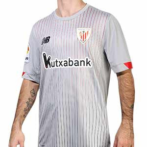 Camiseta New Balance 2a Athletic Club 2020 2021 - Camiseta segunda equipación New Balance del Athletic Club de Bilbao 2020 2021 - gris - frontal