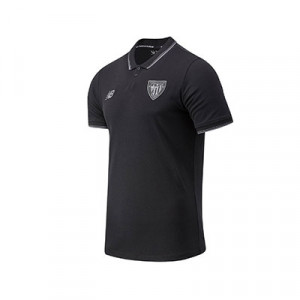 Polo New Balance Athletic Club Base - Polo New Balance del Athletic Club de Bilbao 2020 2021 - negro - frontal