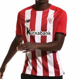 Camiseta New Balance Athletic Club 2021 2022 - Camiseta primera equipación New Balance del Athletic Club de Bilbao 2021 2022 - roja y blanca - frontal