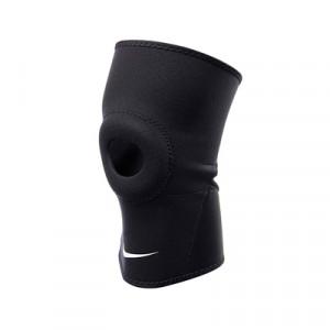 Rodillera abertura rótula Nike 2.0 - Rodillera de neopreno con abertura en la rótula Nike - Negro - frontal