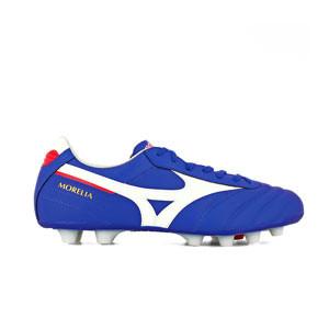 Mizuno Morelia 2 Elite MD - Botas fútbol Mizuno piel canguro MD césped natural o artificial de última generación - azules - pie derecho
