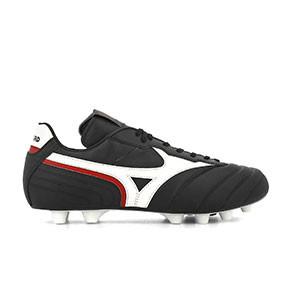 Mizuno Morelia Zero Japan - Botas de fútbol de piel de canguro hechas a mano Mizuno MD para césped natural o artificial de última generación - negras - pie derecho
